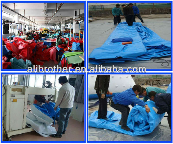 0.55mm PVC tarpaulin commercial grade giant inflatable bouncy castle with water slide