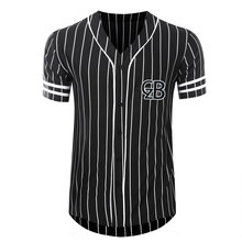 2016 new style custom vertical stripe baseball jerseys