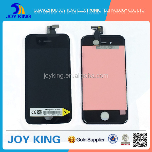 Alibaba suppliers Mobile phone spare part for IPhone 4s LCD with touch Digitizer Assembly replacment