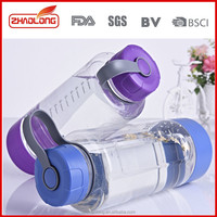 easy to carry loop lid water bottle with colored gripper