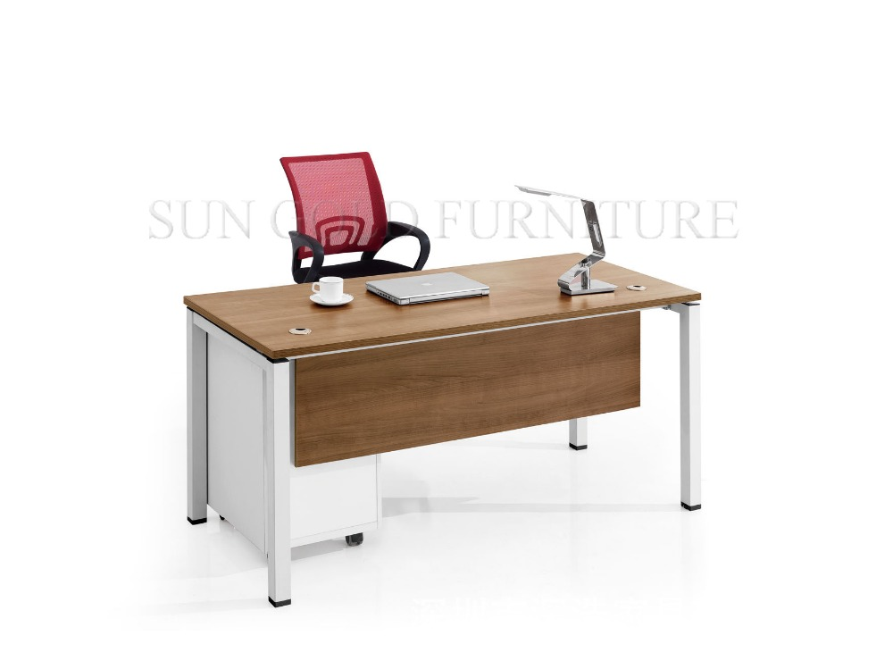 2016 New modern computer table photos, office furniture table designs (SZ-ODB353)