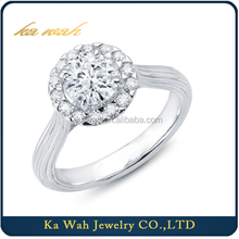 Hot sale Classic Big Diamond Ring White Gold fashion rings for women Fashion Jewelry