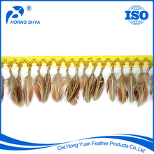 HS-74 Natural Ringneck Pheasant Feather Fabric Trimming Feathers