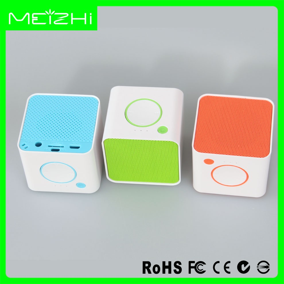 computer accessories audio input mini cube bluetooth speaker