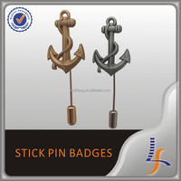 Custom Military Struck Metal Badge with Long Stick