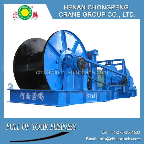 Wire rope running speed and pulling force steady electric winch