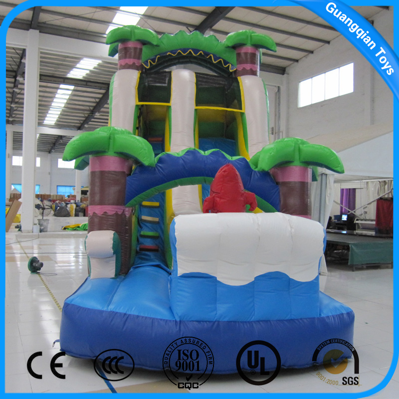 Guangqian Commercoal Giant Inflatable Water Slide For Kids and Adults