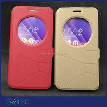 View Circle PU Flip Phone Cover Case for Asus Zenfone Go ZC500tg
