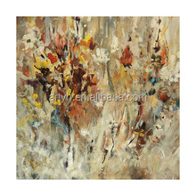 Nice handmade oil painting flower abstract art for home decoration
