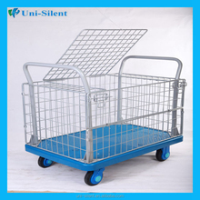 Industrial steel roll cage cart for supermarket