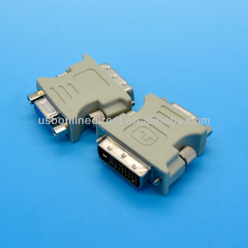 DVI-D (24+1) Dual Link Male to VGA HD15 Female Adapter Converter VGA/SVGA D-Sub Female for PC Laptop pad