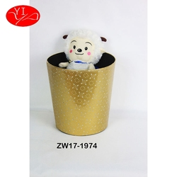 Custom Cardboard Round Design household recycle Trash Bin manufacture