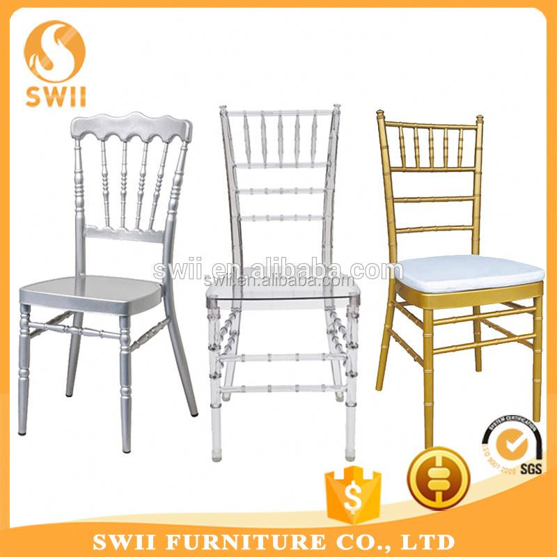 Swii wholesale resin chiavari chairs walnut / steel reinforced chiavari chair