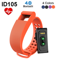 ID105 Smart Band Fitness Tracker Heart Rate Monitor Pulse Smart Bracelet for iPhone 5s 6 6s Plus for Samsung S5 S6 Android Phone