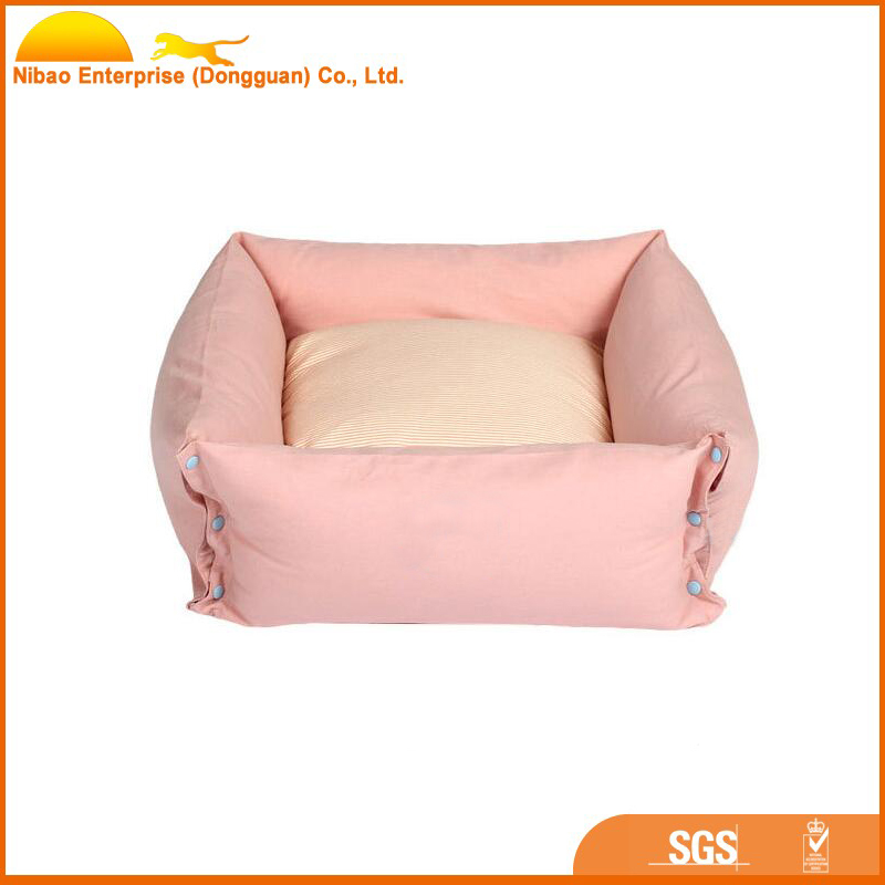New style pet bed with removeable cover square dog cushion