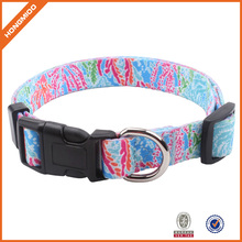 Colorful Plastic Buckle Waterproof Sublimation Dog Collar Pet