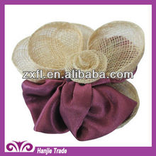 Latest style decorative hemp and fabric shoe accessories for lady
