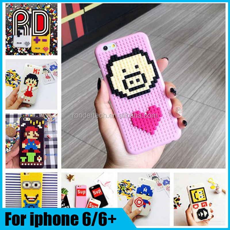Over 20 designs blocks Diy hard pc back cover shell phone cases for iphone 6s 6 plus