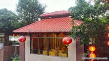 PVC roof shingles spanish style asa resin roof from Chinese factories