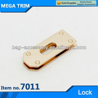 No.7011 light gold bag accessory lock hardware