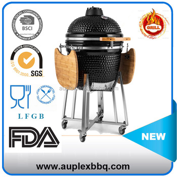 Auplex 21 Inches Barbecue Egg Shaped Charcoal Ceramic BBQ Kamado Grill