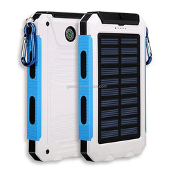8000mAh solar panel mobile usb 8000mAh power bank 5000