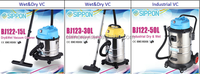 Well designed wet and dry vacuum cleaner with blowing function