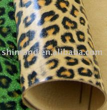 Sexy Leopard Print PVC Sponge Leather For Bag / Chair