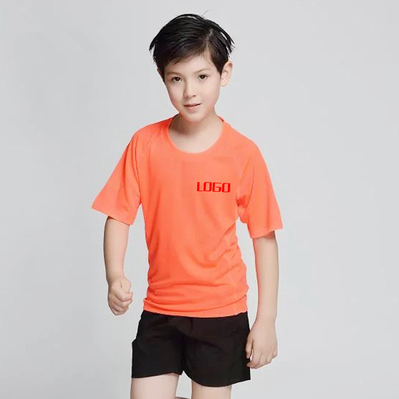 Kids Dri Fit 100% Polyester Plain T Shirt Custom Silk Screen Printing Custom Sublimation Sports Running T Shirts Event T Shirts