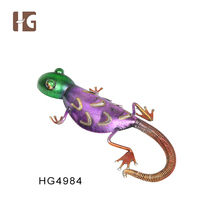 Popular gecko iron decorative wall hanging art and craft