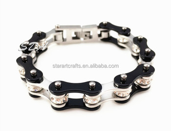 Hot Sale Fashion trendy jewelry Stainless steel biker link chain bracelet for biker YM116
