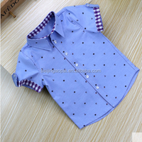 New arrival children clothing cotton short sleeve oxford designer boys shirts for sale