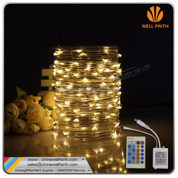 Remote controlled Copper Wire Led Holiday Twinkle Lights, Christmas Led Copper Wire String Lights
