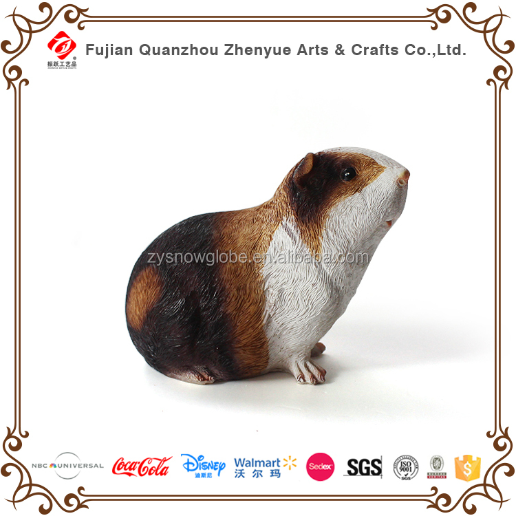 Polyresin Hamster Ornament, Customized Lovely Mouse Animal Statue, Resin Cute Bamboo Rat Figurine