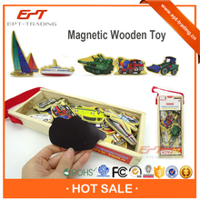 Wholesale transportation magnetic wooden block set for sale