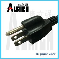 UL certificate cable,UL cable wire,CSA american standard 110v plug NEMA 18 awg cable 3 pin plug UL US power cord