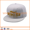 High quality Pure white 3D Embroidered 6 Panel Snapback