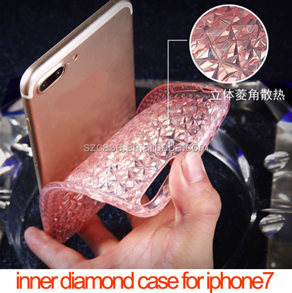 New design diamond TPU cell phone case cover for iphone7 plus case