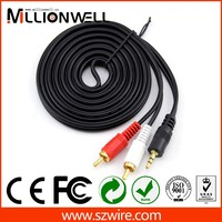 5 pole 3.5mm plug to 3 rca cable,vga rca male to male cable