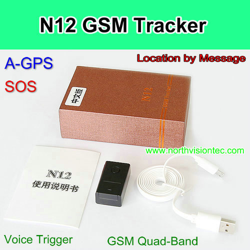 A-GPS tracker GSM tracker with SOS Button and Voice Monitor