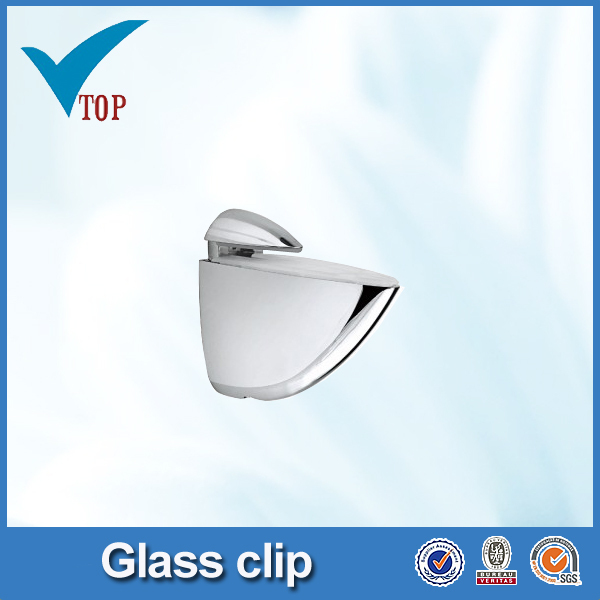 Zinc alloy cabinet glass holding clips