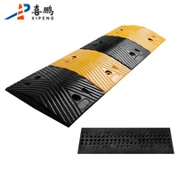 Cost-effective Rubber Speed Breaker Yellow-Black Road Speed Bump/Hump For Traffic Safety
