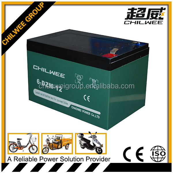 12v12Ah gel rechargeable battery for e-tricycle