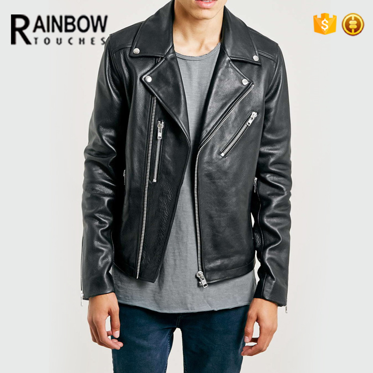 Bulk Wholesale Hight Quality Fashion Leather Men Winter Jacket