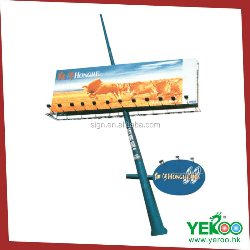 galvanized steel product display billboard aluminum outdoor rotating advertising advertising boards for sale