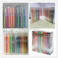 New fashion pen sets/multi color glitter gel pen sets/gel ink pen sets