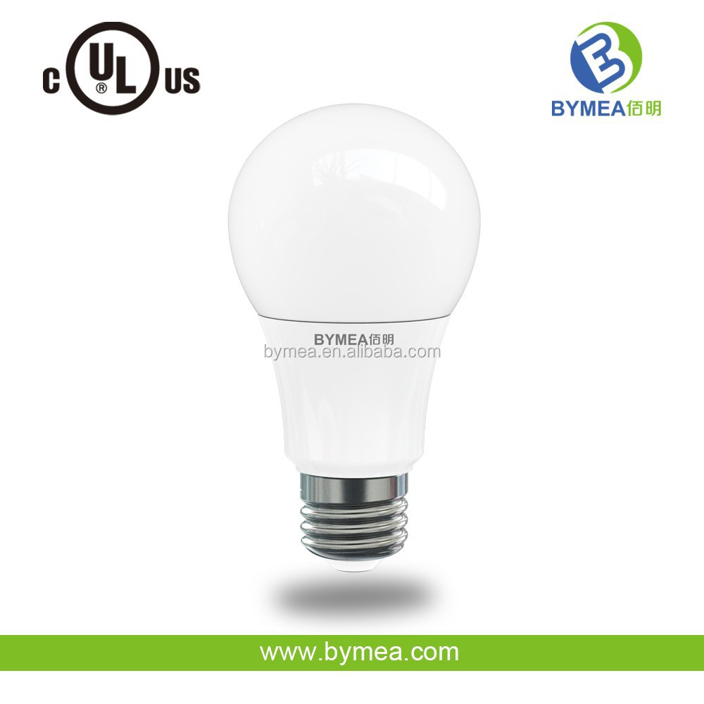 60W Replacement UL ES 5000K E26 A19 Led Bulb 9W