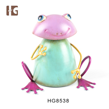 Newly custom design frog shaped metal plant craft