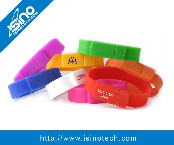 Low Cost Silicon 8GB Bracelet USB Flash Drive