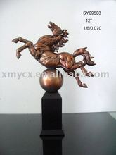 Resin bronze animal horse figurine
